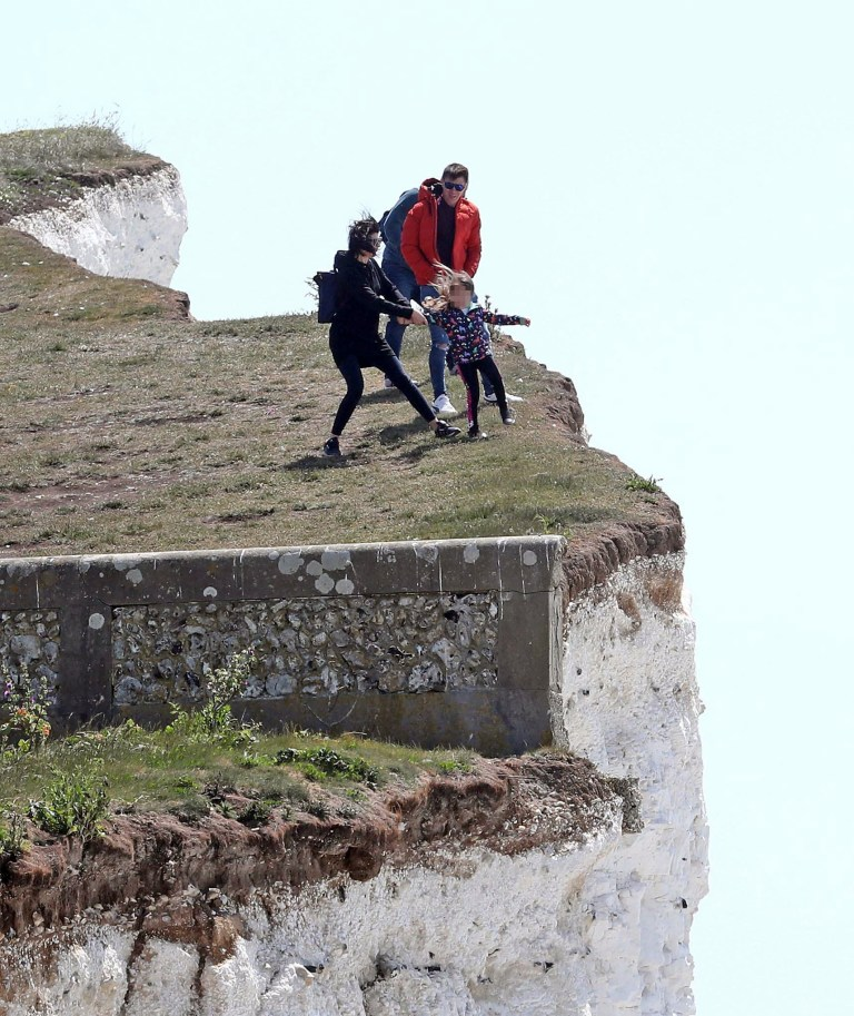 Birling Gap cliffs reach up to 400ft