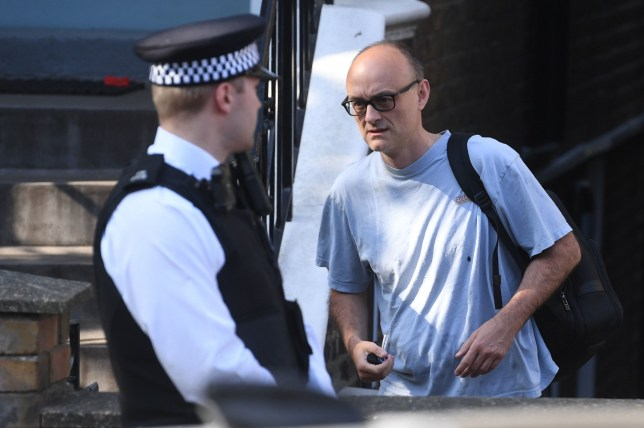 Dominic Cummings leaves his north London home as the row over the Durham trip taken by Prime Minister Boris Johnson's top aide continues. PA Photo. Picture date: Wednesday May 27, 2020. See PA story HEALTH Coronavirus. Photo credit should read: Kirsty O'Connor/PA Wire