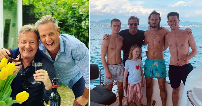 Piers Morgan family