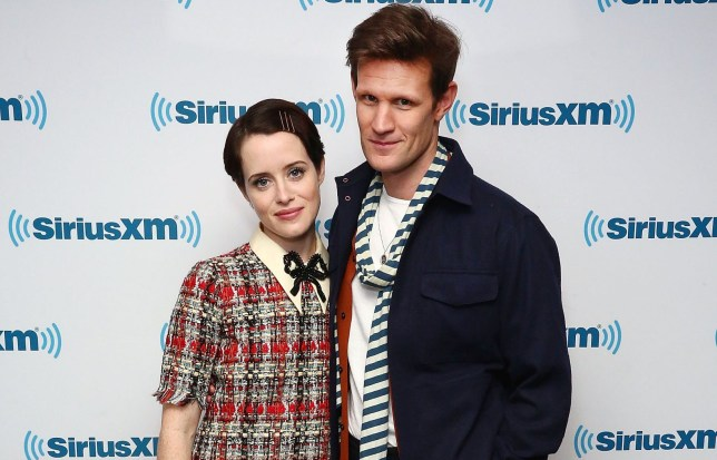 NEW YORK, NY - DECEMBER 05: (EXCLUSIVE COVERAGE) Actress Claire Foy and actor Matt Smith visit the SiriusXM studios on December 5, 2017 in New York City. (Photo by Astrid Stawiarz/Getty Images)