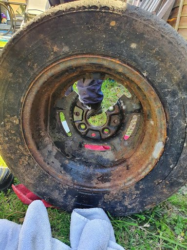 A trapped fox had a lucky escape last week when he was discovered with his head stuck in a car wheel and was freed by the RSPCA. When the owners of a home in Addiscombe Court Road in Croydon went out into their garden on 21 May, they spotted the fox with his head stuck fast in a spare alloy wheel they had been storing.