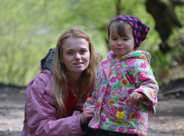 Laura Higginson with daughter Evelyn - Paracetamol Overdose hand out image via solicitors Slater and Gordon for family