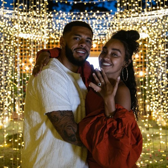 Leigh Anne Pinnock engaged Picture: Andre Gray