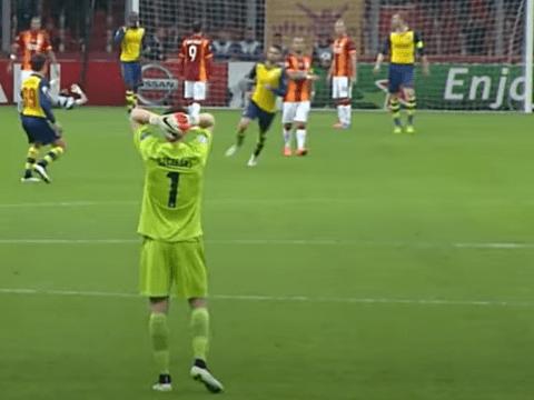 Wojciech Szczesny explains his reaction to Aaron Ramsey's 'best' Arsenal goal