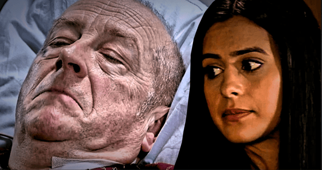 Alya and Geoff in Coronation Street