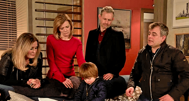 Leanne, Oliver, Nick, Steve and Liz in Coronation Street