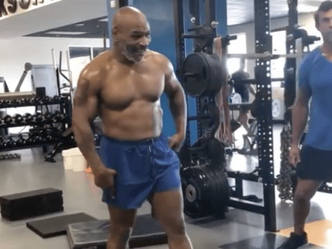 Mike Tyson looks absolutely ripped in video as he trains with UFC legend Vitor Belfort