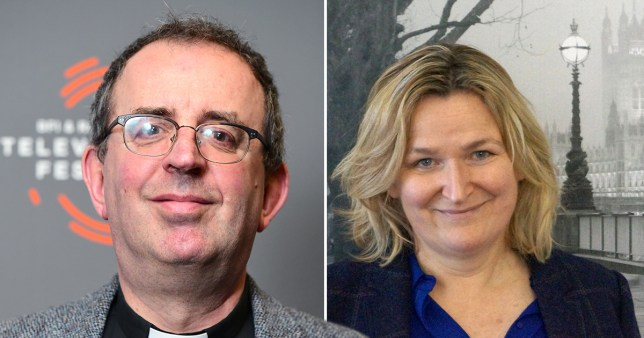 Reverend Richard Coles and his sister-in-law Louise Coles