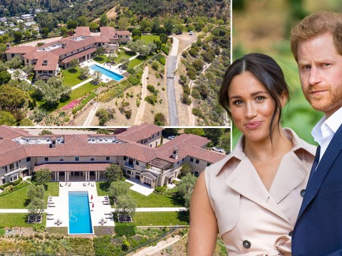 The £14,500,000 Beverly Hills mansion where Harry and Meghan are living
