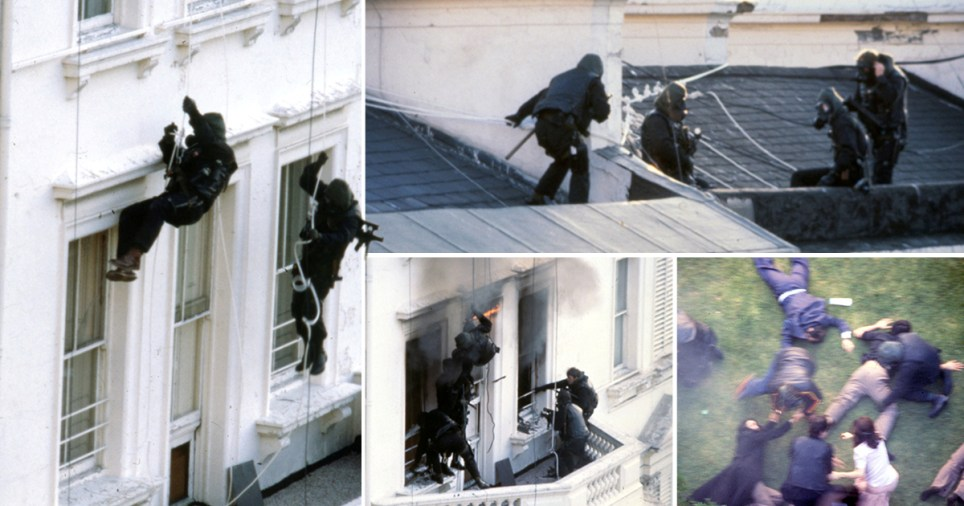 Unseen pictures of Iranian Embassy siege