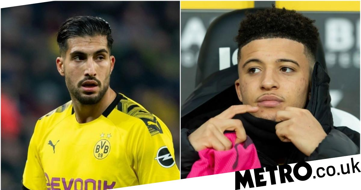 Jadon Sancho urged to snub Man Utd transfer by former Liverpool star Emre Can - Metro.co.uk