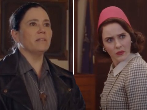 Marvelous Mrs. Maisel's Rachel Brosnahan reveals BTS Alex Borstein story from that iconic divorce speech: 'My eyes were bloodshot'