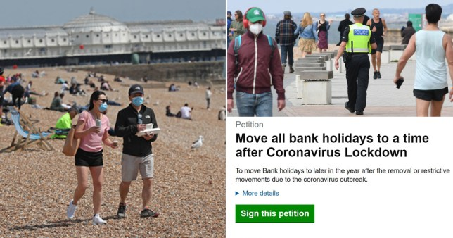 The petition says we can't make the most of bank holidays in lockdown