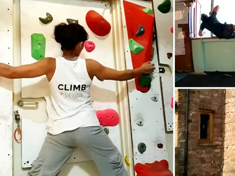 Bored Brits are turning their homes into climbing walls and obstacle courses