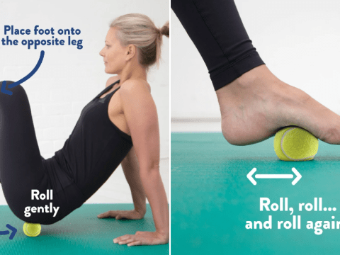8 physio-approved at-home exercises you can do at home with a tennis ball
