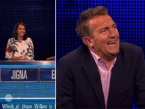 Bradley Walsh tries to hold back laughter after hilarious innuendo on The Family Chase