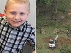 Police dig at family's house in hunt for 'murdered' toddler believed to be buried there