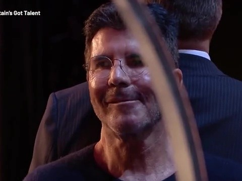 Simon Cowell has near-miss with knife during dangerous stunt on Britain's Got Talent