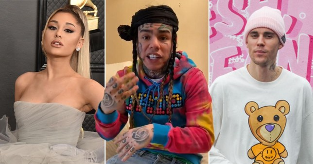 6ix9ine has an issue with Ariana and Justin's song