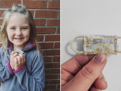 Mum creates mini masks for tooth fairy after daughter worries she won't be able to socially distance