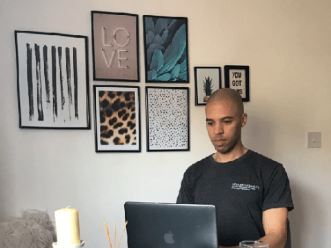 Where I Work: Christian, the massage therapist offering virtual stretching sessions from his flat