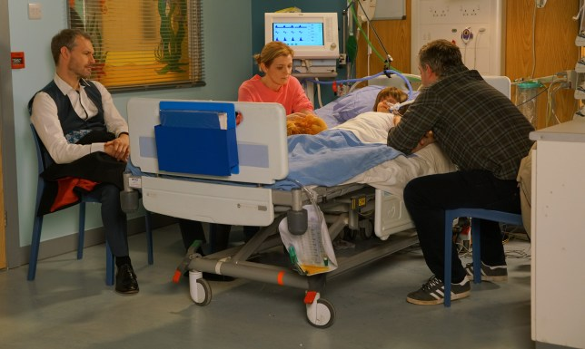 Oliver, Leanne, Steve and Nick in Coronation Street