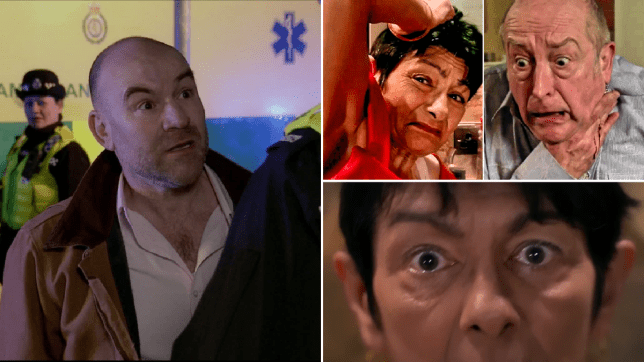 Tim lashes out in Coronation Street after Yasmeen stabs Geoff.