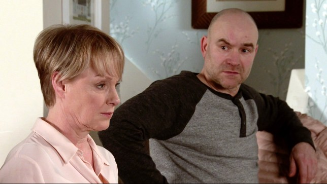 Sally and Tim in Coronation Street