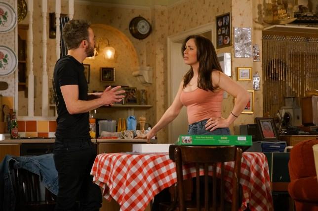Shona and David in Coronation Street
