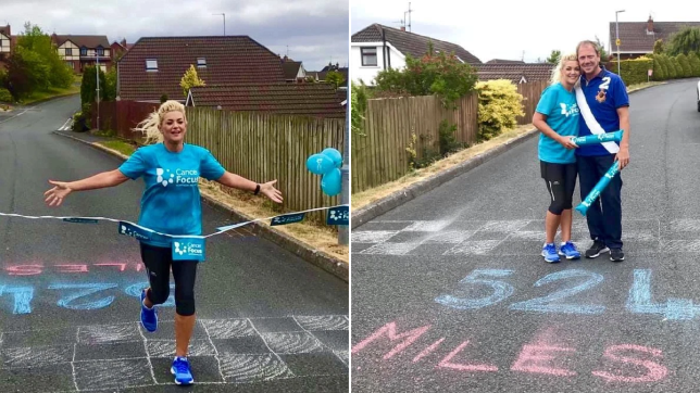 Woman runs 20 marathons in 20 days doing laps of her local area in lockdown