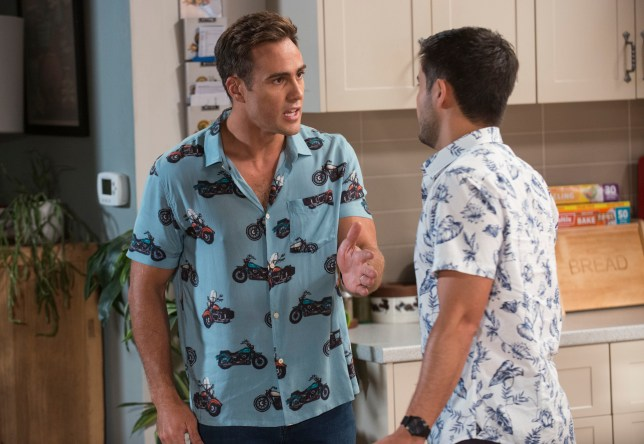 David and Aaron in Neighbours