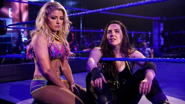 WWE superstars Alexa Bliss and Nikki Cross on SmackDown