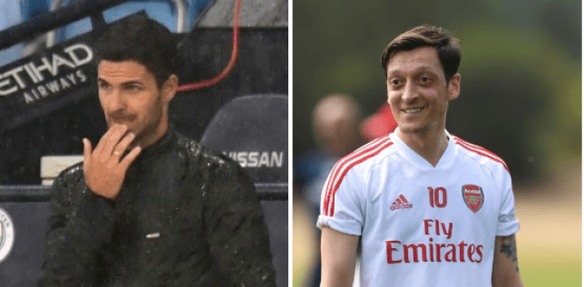 Mesut Ozil  was left out of  Mikel Arteta's Arsenal's matchday squad for the game against Man City