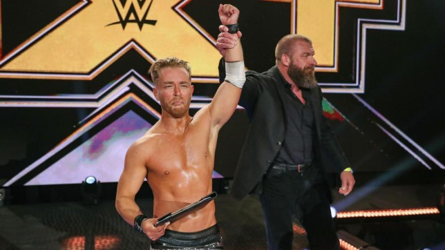 NXT superstar Drake Maverick and WWE legend Triple H