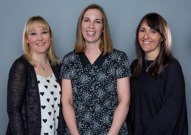 Emmerdale bosses Laura Shaw, Jane Hudson and Kate Brooks.