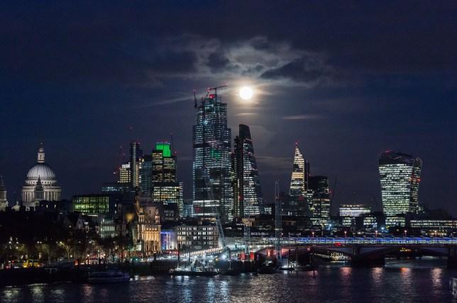 Full Moon above London.