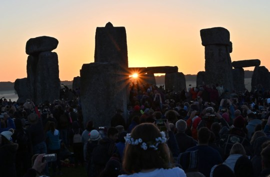People at Stonehenge