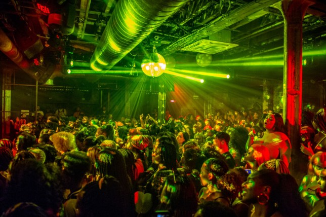 the inside of a nightclub