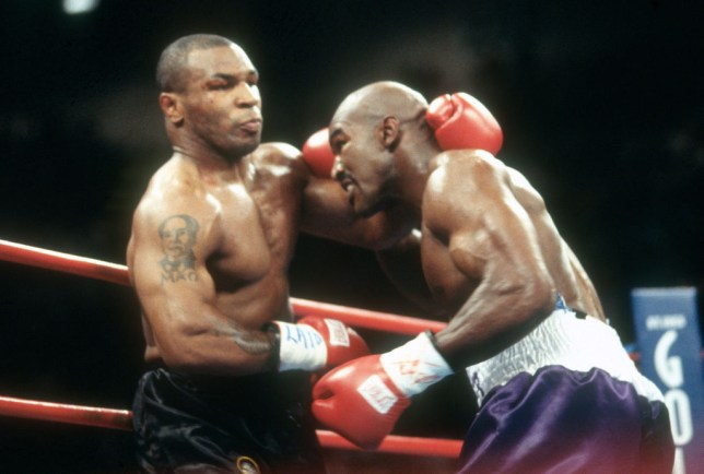 Evander Holyfield says he wanted to be aggressive in his fights with Mike Tyson