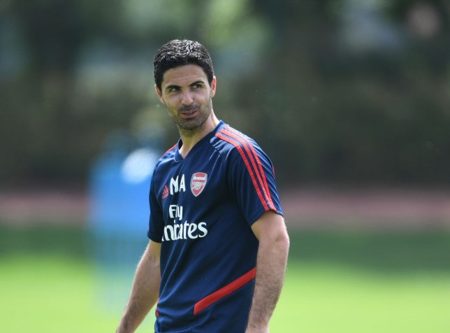 Mikel Arteta in an Arsenal Training Session