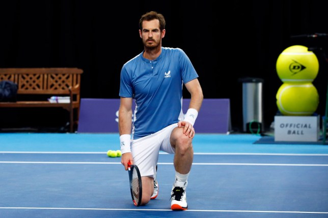 Schroders Battle Of The Brits - Day 1: Andy Murray takes the knee in support of the Black Lives Matter movement