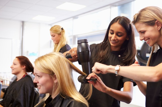 Stock image of hairdressers