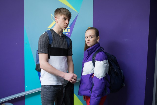 Sid and Juliet in Hollyoaks