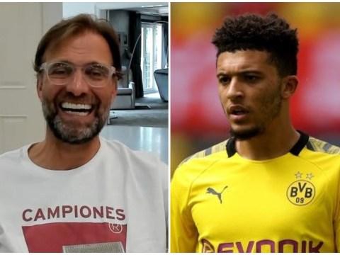 Jurgen Klopp sends message to Jadon Sancho over Liverpool transfer
