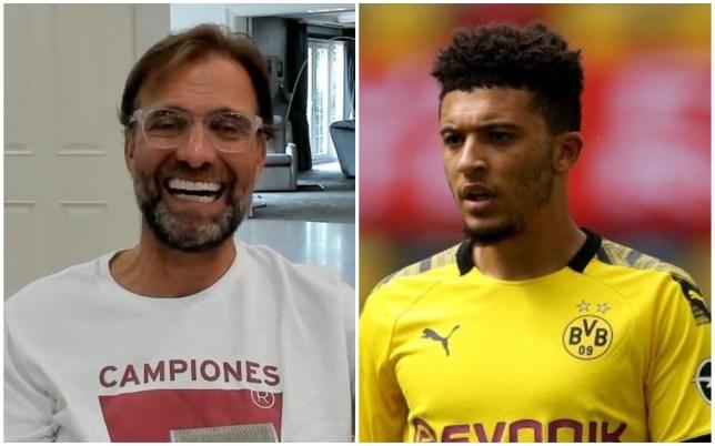 Jurgen Klopp believes Jadon Sancho is unlikely to join Liverpool this summer