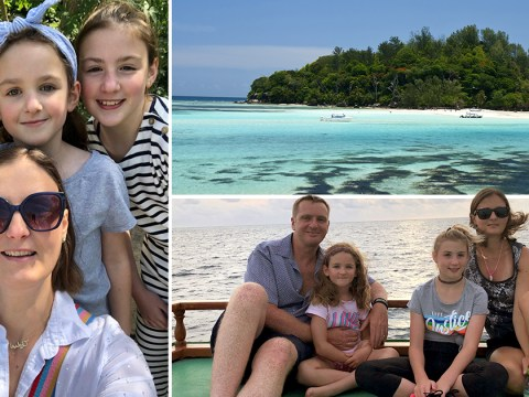 British family-of-four moves to an island on the Seychelles to launch a coral farm to save the reef