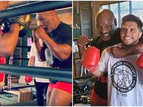 Mike Tyson teaches UFC star Henry Cejudo his devastating uppercut in leaked training video