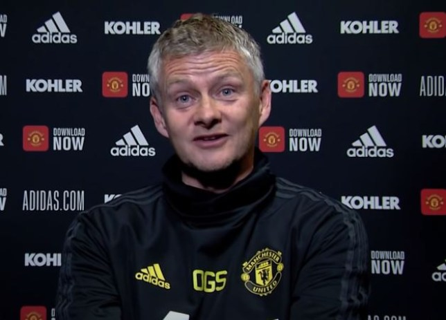 Ole Gunnar Solskjaer was evasive over Manchester United's chances of signing Jadon Sancho