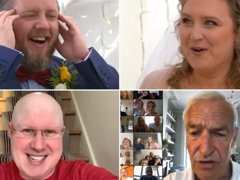 Matt Lucas and Channel 4 newsreader Jon Snow gate crash couples' big day on Hitched At Home: Our Lockdown Wedding
