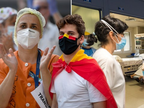 Spain reports no new coronavirus deaths for the first time since March